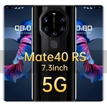 2021 Hot Sale Mate40 RS 16GB 512GB Global Version Smartphone Android10 Unlocked 6800mAh Snapdragon 8