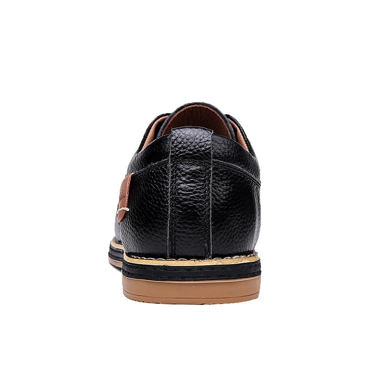 Мужские классические туфли оксфорды из натуральной кожи на шнуровке, мужские повседневные туфли, роскошные Брендовые мужские классические...