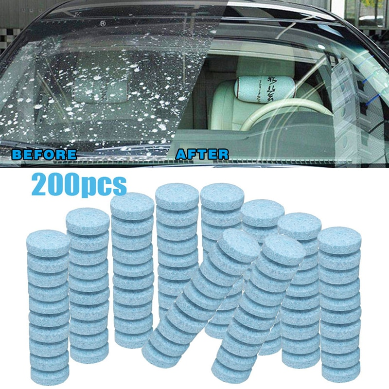 20/50/100/200Pcs Car Solid Cleaner Effervescent Tablets Spray Cleaner Car Window Windshield Glass Cl