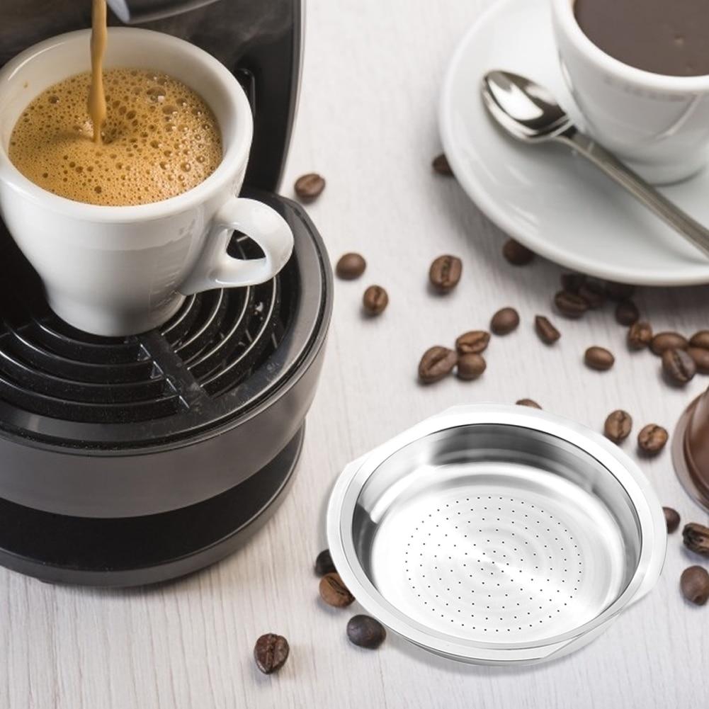 Taza de filtro de café de acero inoxidable, cápsula de café reutilizable...