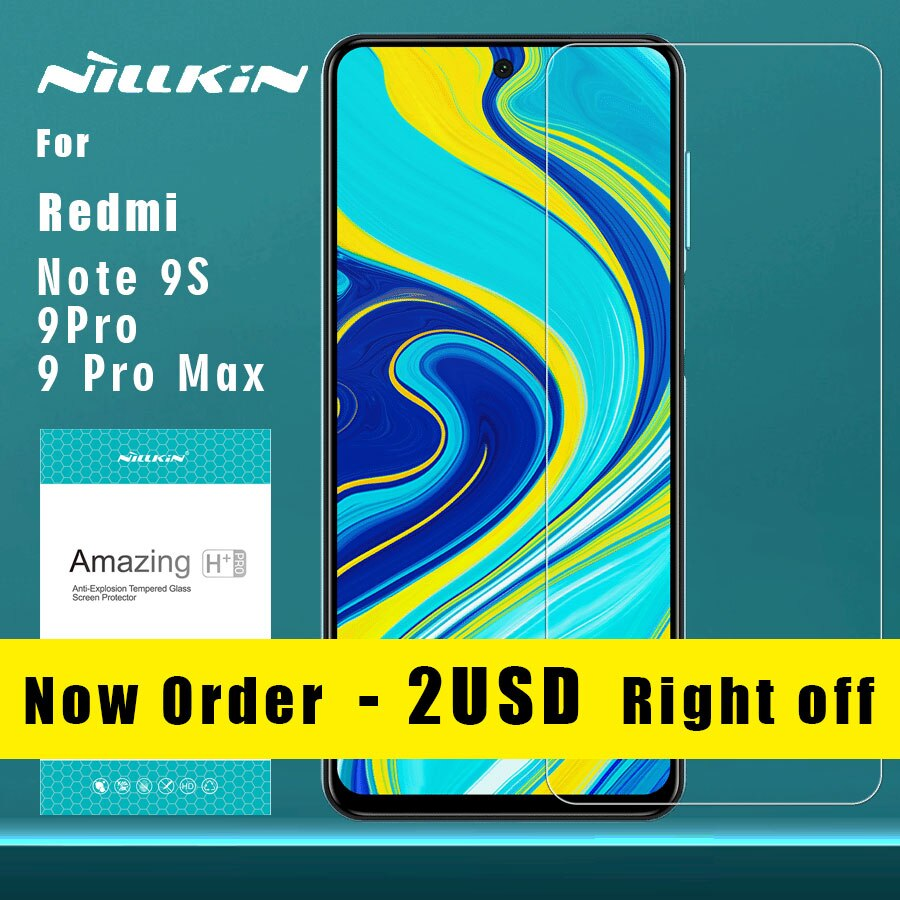 Nillkin para Xiaomi Redmi Nota 9S 9 Pro Max 8T 8 7 Pro K30 de vidrio templado 9H Plus Pro de vidrio para Mi 9 9T Pro 8 A3 Mi9 Mi8 SE Lite