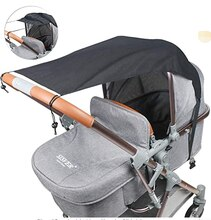 Accessoires de poussette de bébé universels   Pare-soleil, pare-soleil, protection canopée pour bébés, siège de voiture, chapeau résistant aux UV