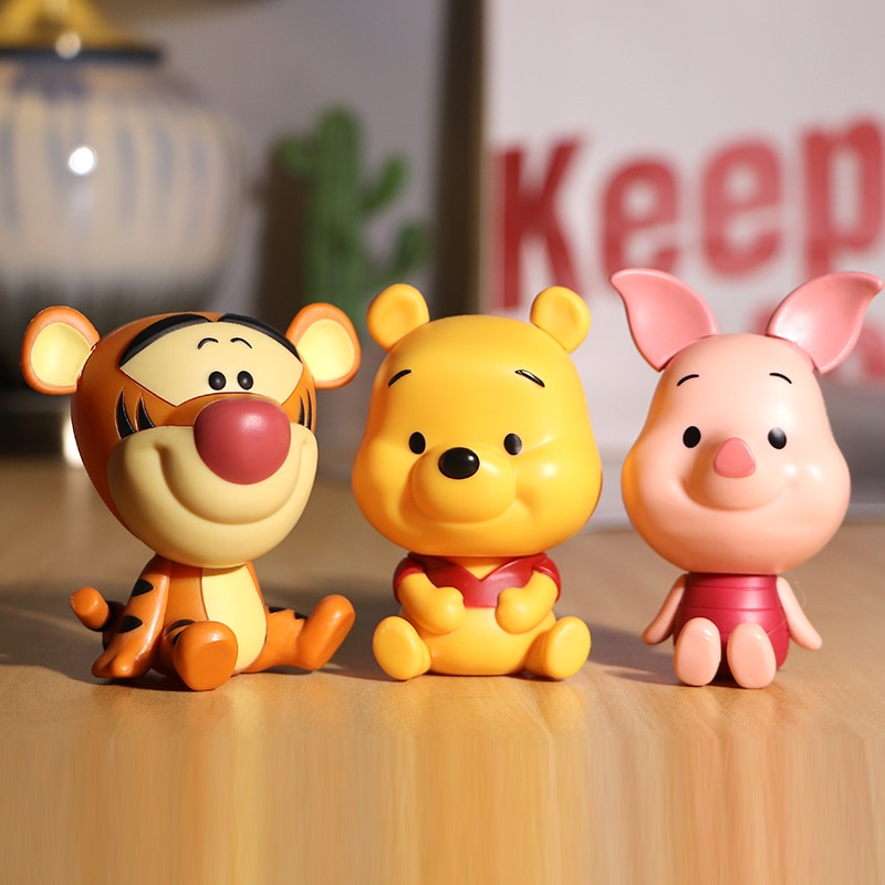 Disney Winnie the Pooh Tiger Piglet Cartoon Posture Anime Decoration PVC Action Figure Toys Model For Children Kid Birthday Gift