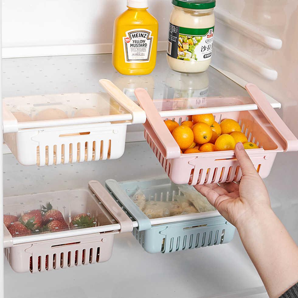 Organizador Para Nevera Extensible Artículo De Cocina Estante De Almacenamiento Caja Para El Frigorífico Cajón Estante Para Verduras Cajas Y Recipientes De Almacenamiento Aliexpress