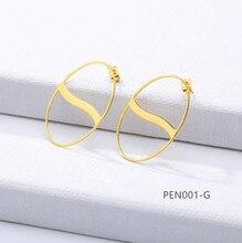 Ovale soleil conception boucle doreille goujons élégant mode femmes bijoux fille cadeaux PEN001-S