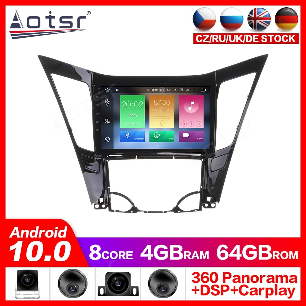 Reproductor de Radio y navegación GPS Android 10,0 para Hyundai Sonata 2011-2013, reproductor de Video estéreo, Headuint, mapa gratis incorporado en Carplay dsp