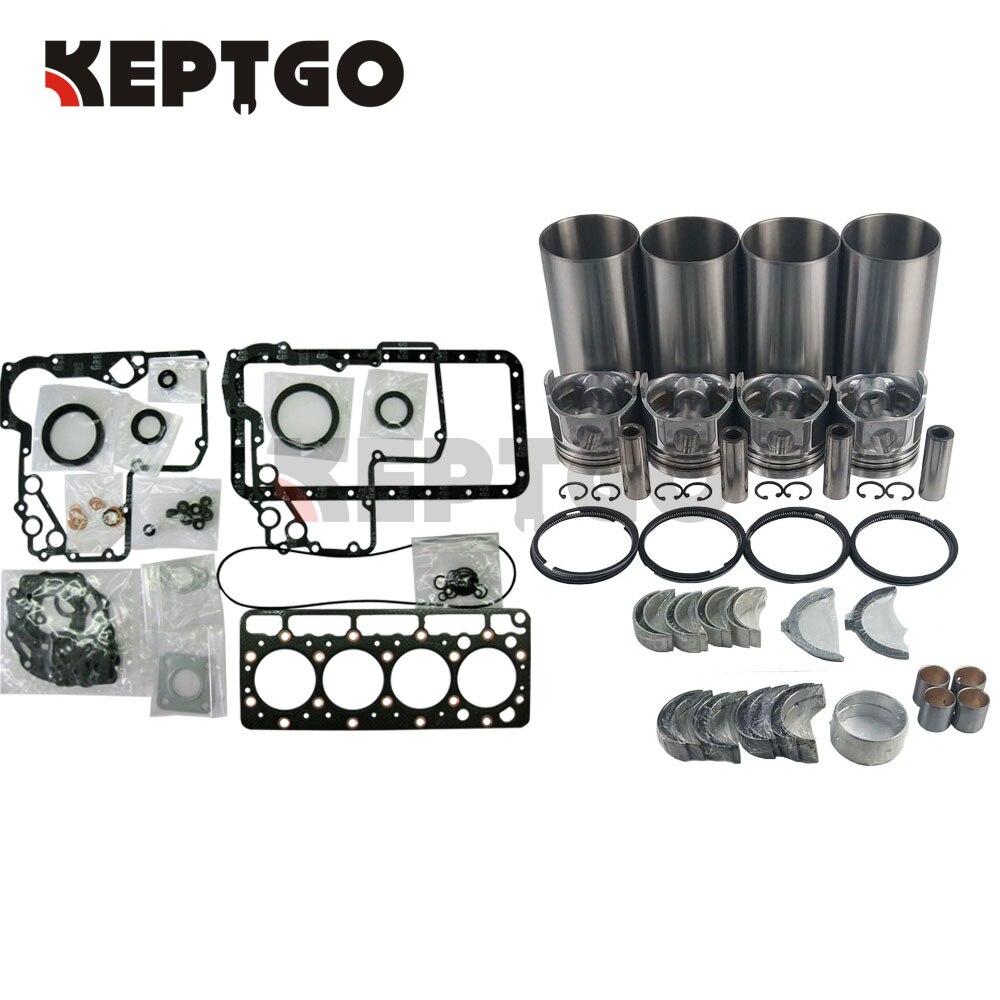 طقم إصلاح وتجديد V1100 لمحرك Kubota ، مجموعة محمل حلقة المكبس