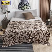 Плюшевое одеяло с леопардовым принтом и зеброй, зимнее фланелевое одеяло s для двуспальной кровати, мягкое теплое покрывало дорожный плед