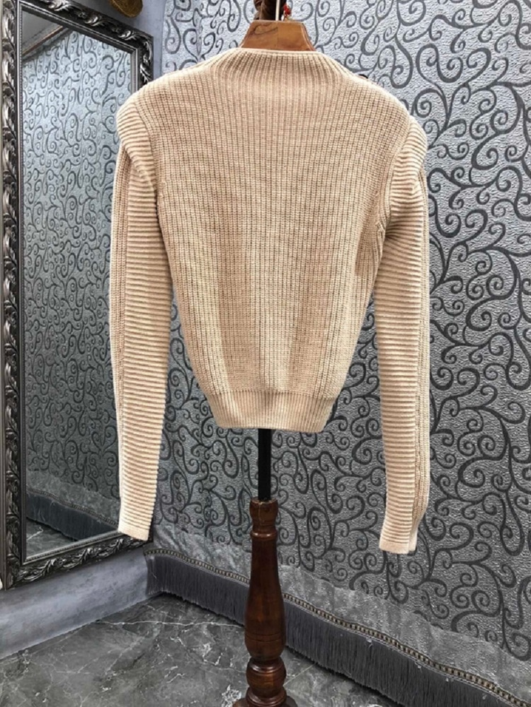 High Quality Sweaters 2021 Autumn Winter Pullovers Women Button Shoulder Hollow Out Sexy Long Sleeve Wool Cotton Knitted Jumper enlarge