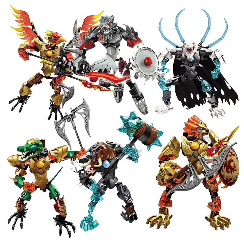 2021 New Super Chima Heroes Bionicle Robot Building Block Toys Gifts Action Figure Compatible With Lepining Chimaed Cragger