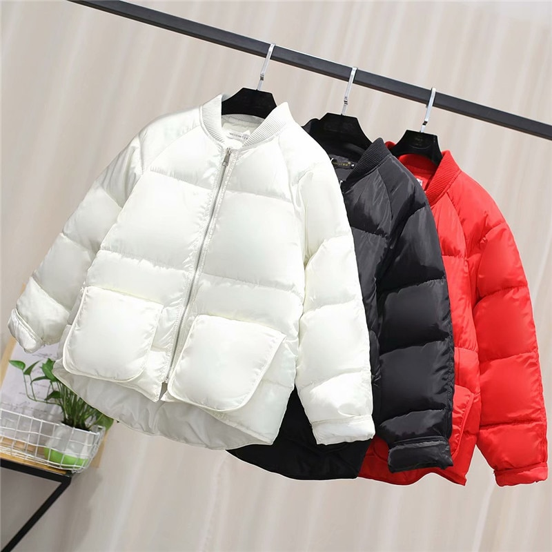2019 Otoño Invierno chaqueta mujer abrigo moda mujer Stand Down chaqueta mujer Parkas cálido Casual ropa de talla grande