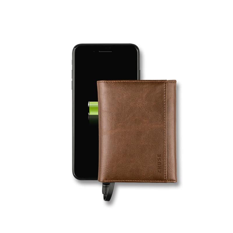 Dropshipping nueva cartera inteligente para hombres y mujeres con USB para cargar cartera Ipone Android capacidad 4000 mAh para ahorrar dinero de viaje
