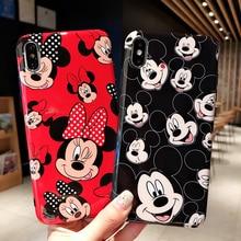 Quente bonito mouse brilhante arco minnie silicone macio caso de telefone para iphone 6 s 7 8 plus x xs xr max 11 pro 2020 se casal presente capa