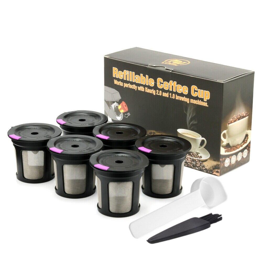 Фильтры для кофе K-Cup Pod совместимы с Keurig 1,0 & 2,0 K Cup Coffee многоразовые кофейные фильтры для многократного использования корзин