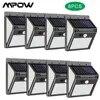 MPOW – applique murale solaire à 140led avec capteur de mouvement PIR imperméable conforme à la norme IP65 sans fil 8 unités par lot