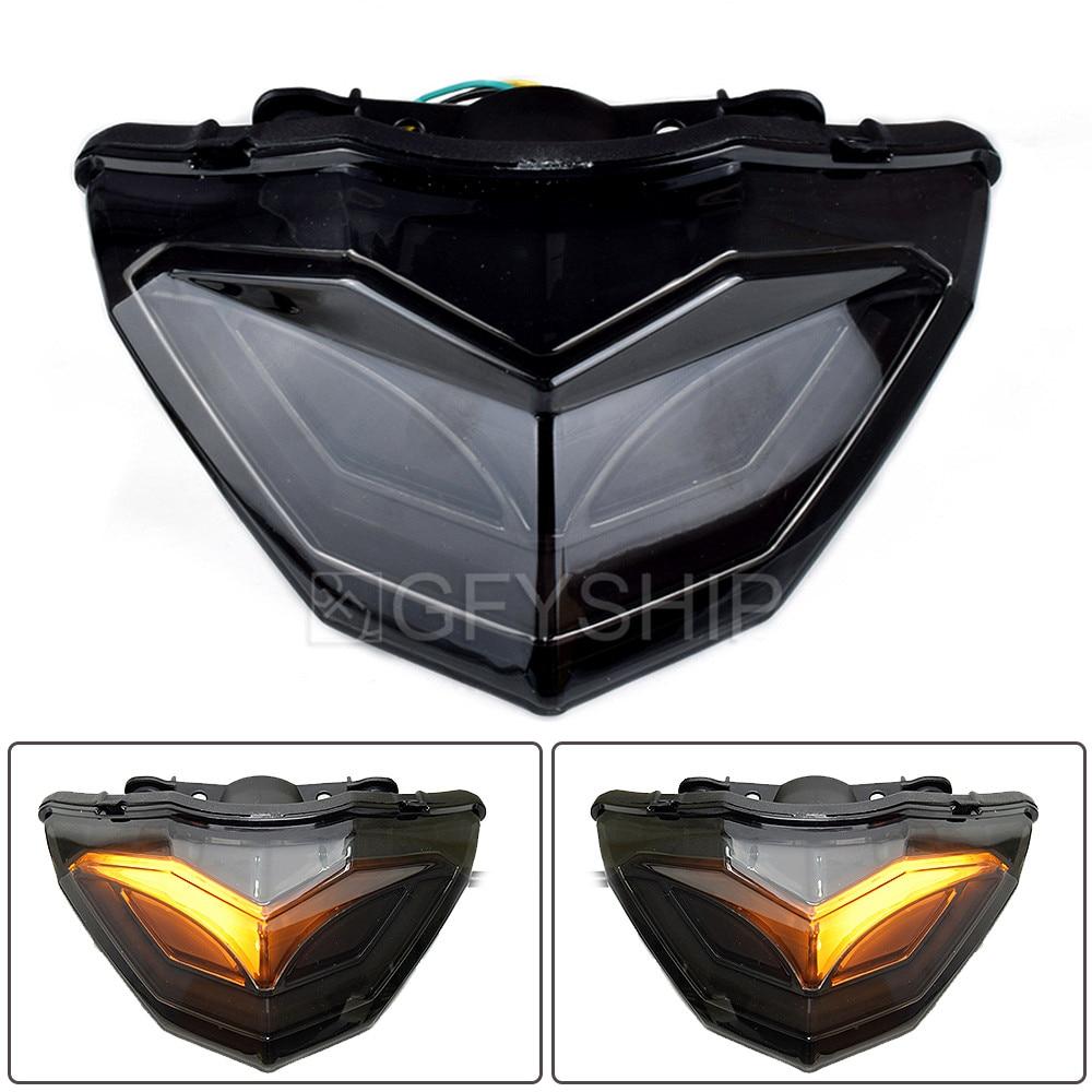 ضوء خلفي LED للدراجات النارية ، ضوء الفرامل ، لكاواساكي نينجا 250 Ninja 300 2013 إلى 2017 Ninja 250 300