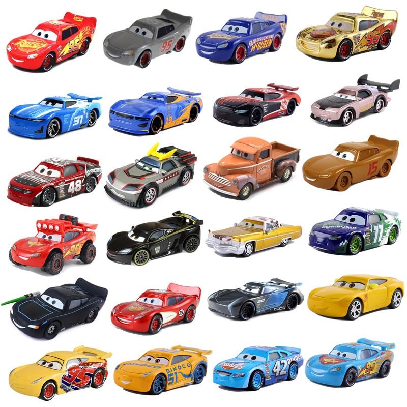 New Disney Pixar 2 3 Toy Car McQueen Jackson Storm 1:55 Cast Metal Alloy Toy Car Model Children's Bi