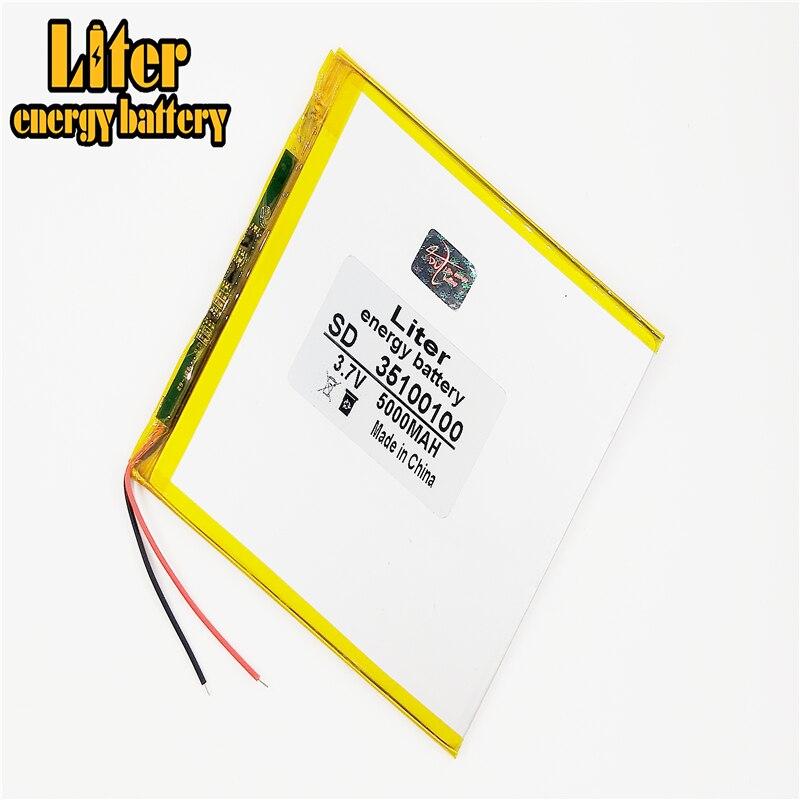 Аккумуляторная 3,7 v литий-ионная таблетка полимерная батарея 5000mah 35100100 ноутбук цена