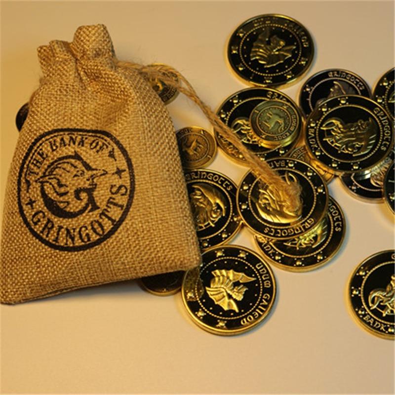Gringotts Wizarding Bank Galleon монета Хогвартс Косплей Unum Kout Unum Stckle металлические монеты аксессуар реквизит