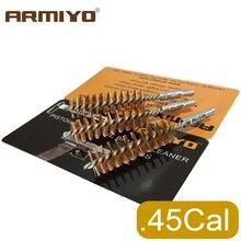 Armiyo. 44Cal. 45Cal 11.4mm pistolet de chasse alésage nettoyeur de baril Bronze brosse pistolet à main tir nettoyage vis filetage taille 8-32