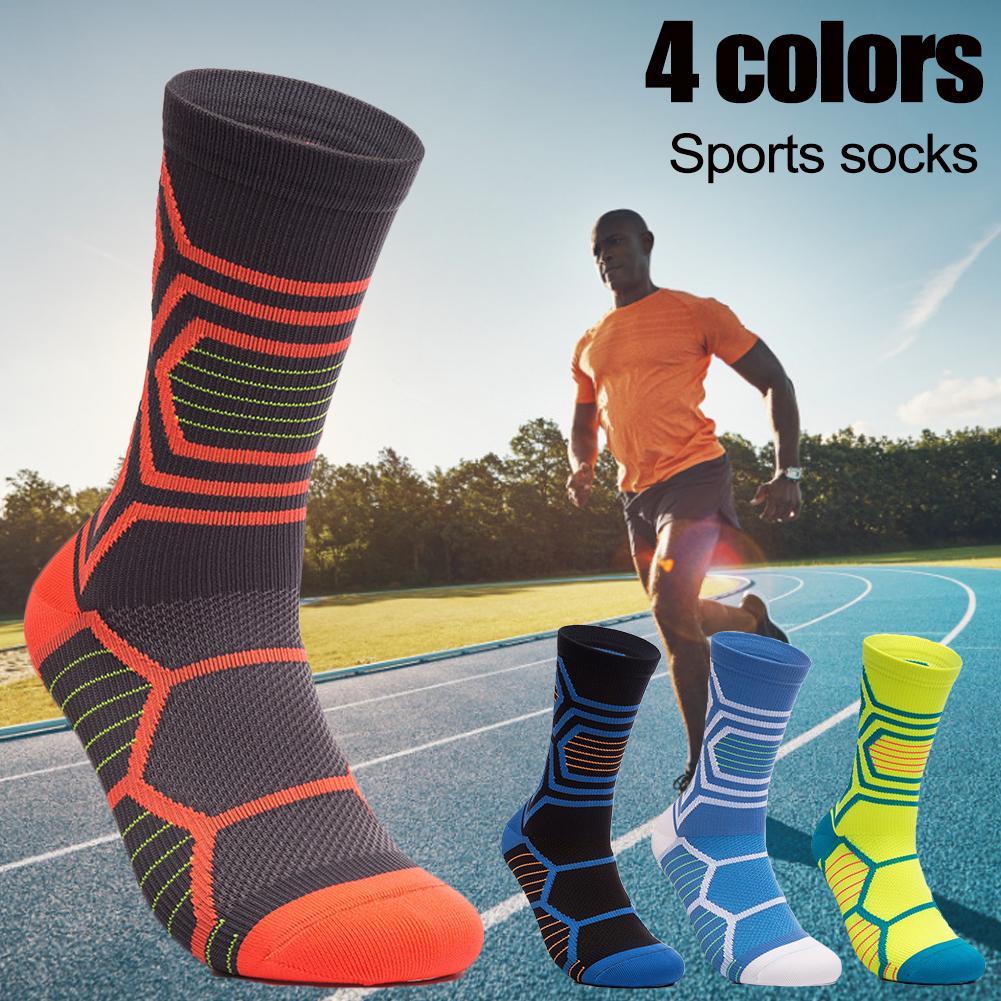 Calcetines de ciclismo para hombre y mujer, calcetines transpirables para bicicletas de montaña y deportes al aire libre, calcetines de alta calidad, 2020