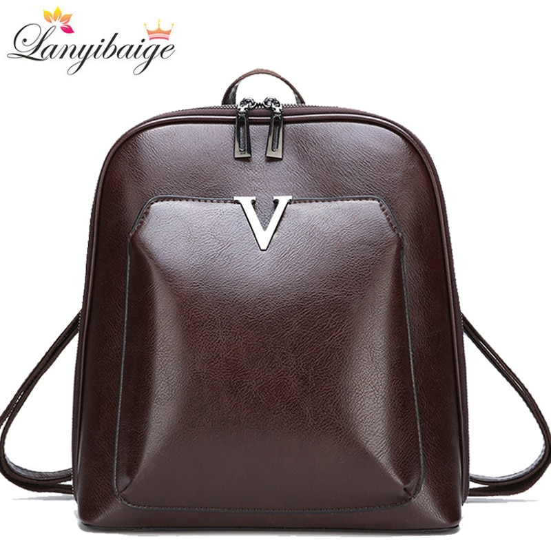 2021 New Vintage Backpack Women High Quality Pu Leather Travel Backpack Large Capacity School Bags for Girls Mochila Feminina