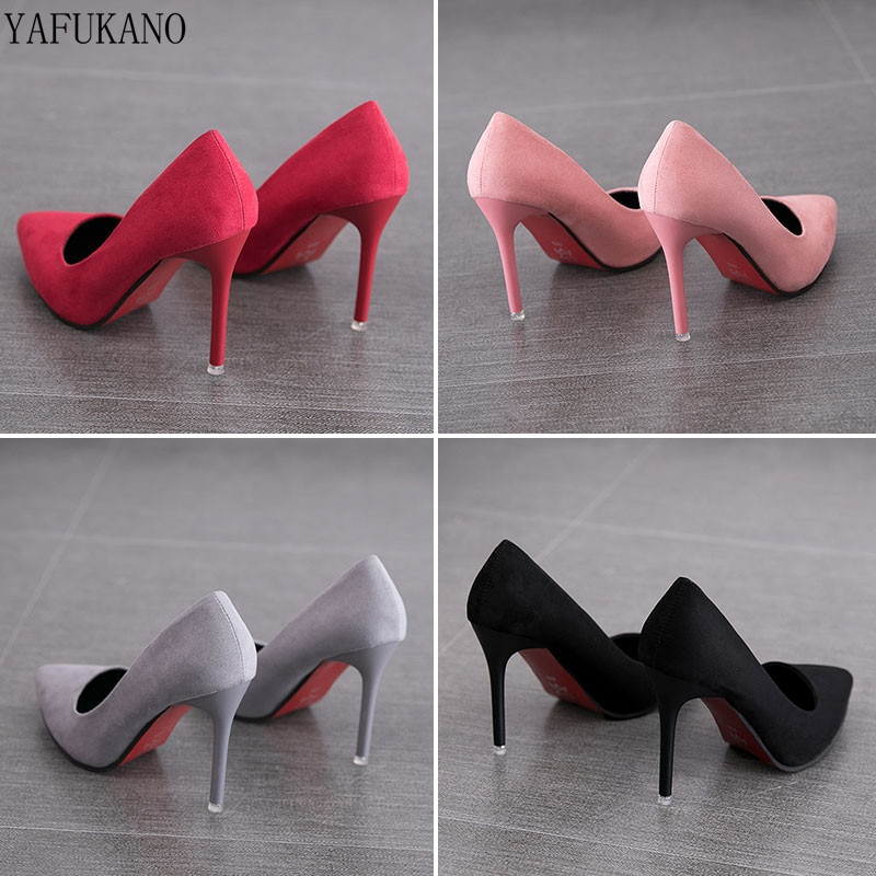 2019 Autumn New Simple Elegant High Heels Stiletto Womens Shoes Pointed Black Etiquette Professional
