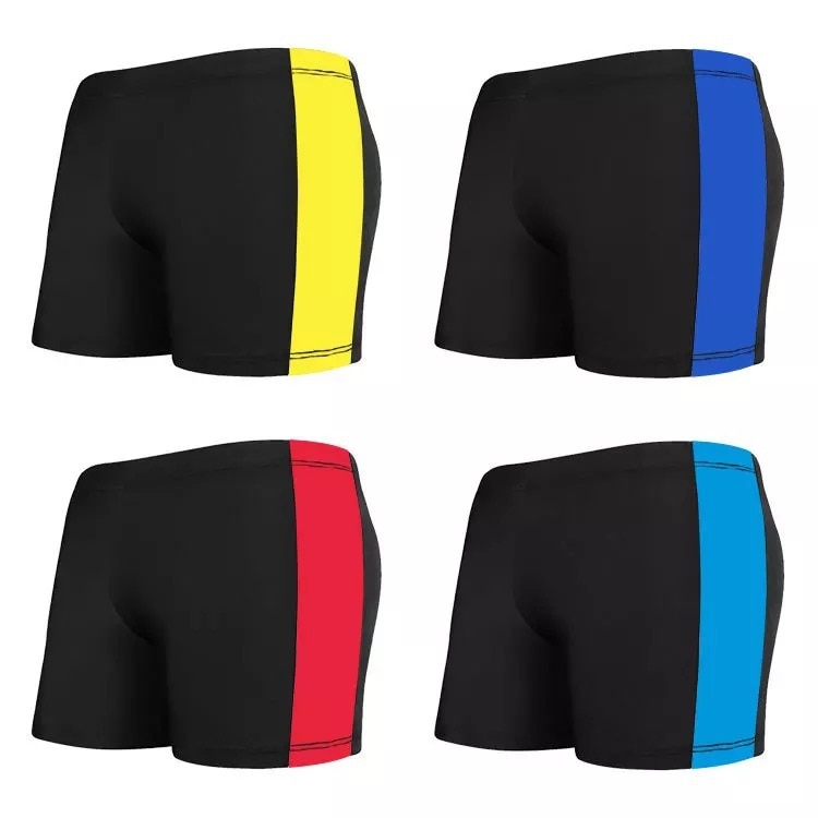 Large Size Swimming Trunks Men's Boxer Mixed Colors Men Hot Springs Bathing Suit Lightweight Breathable Quick-Dry Swimming Trunk