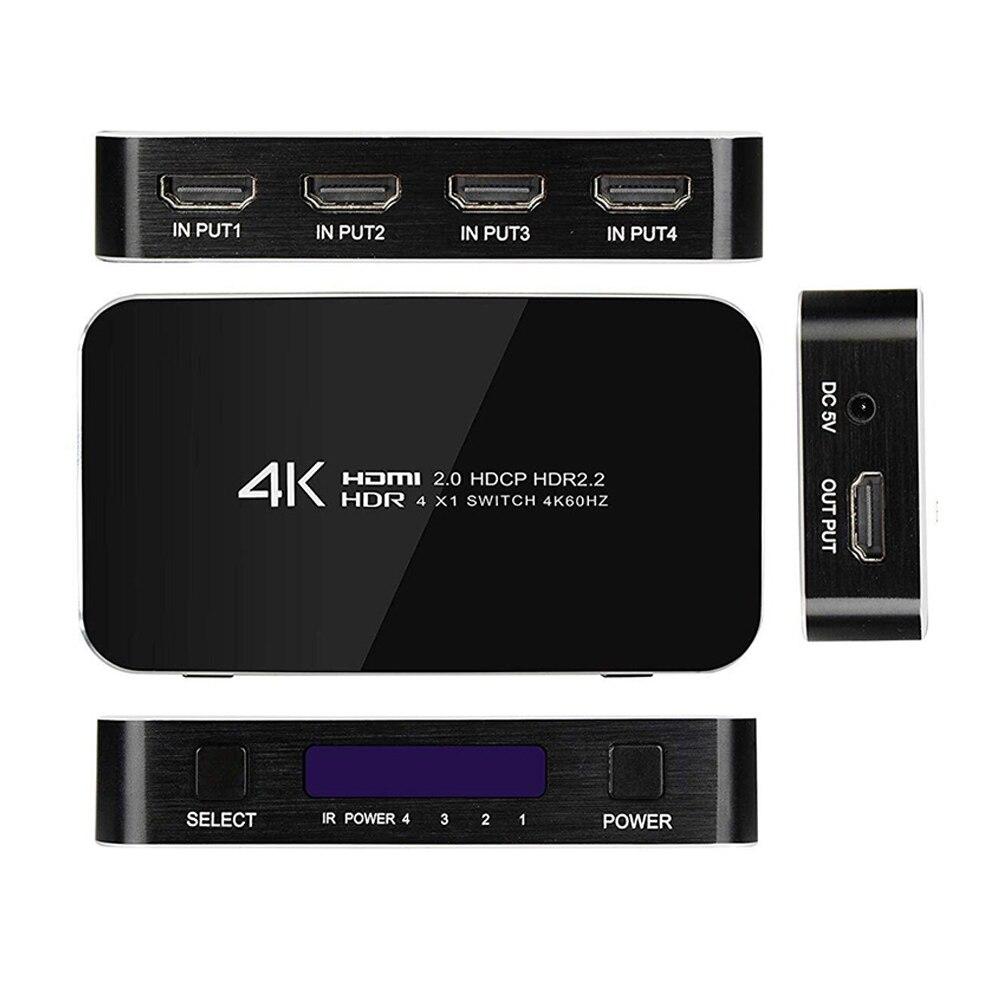 4K HDMI Switcher 2,0 interruptor HDMI 1,4/1,3 HDMI 5X1 4X1 3X1 para HDTV portátil PC y más