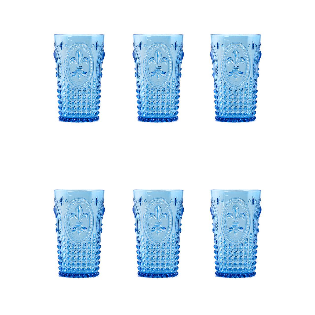 Copo + 3 Acrílico Azul Longo Copo 3 Presente Ews