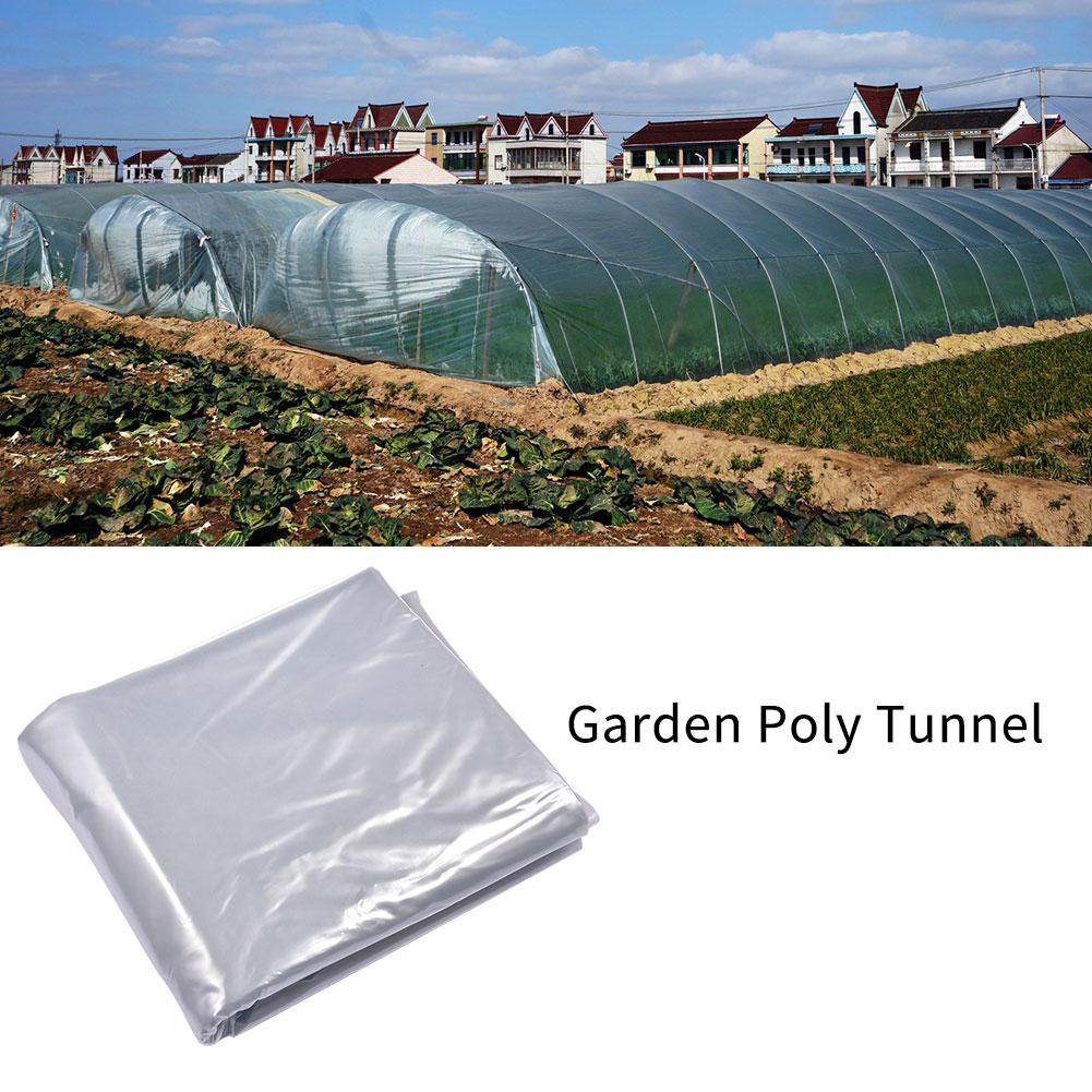 Jardín Poly Tunnel plantas de invernadero marco de Metal Protector paneles de techo lámina invernadero cubierta de invernadero película de plástico sin estante