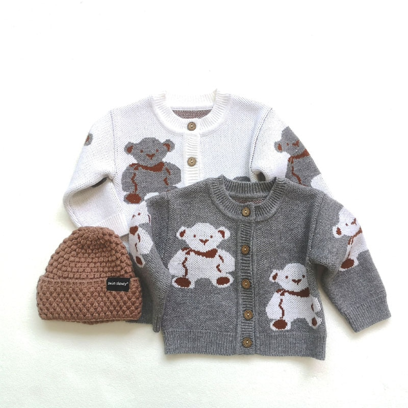 6-36M Newborn Baby Knit Cardigans Autumn Winter Baby Sweater Coat Baby Boys Girls Knitwear Long-sleeve Kid Baby Clothes Jacket