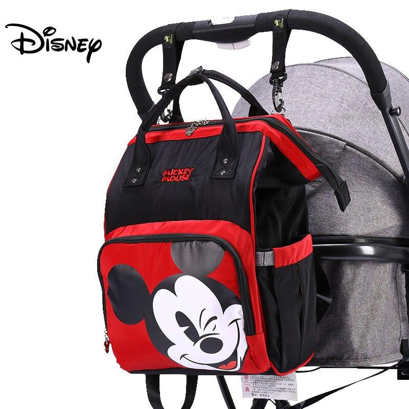 Disney bolso de bebé bolsas para mamá de viaje USB mojado regalo niño niña pañal organizador Mickey Minnie USB recién nacido ratón