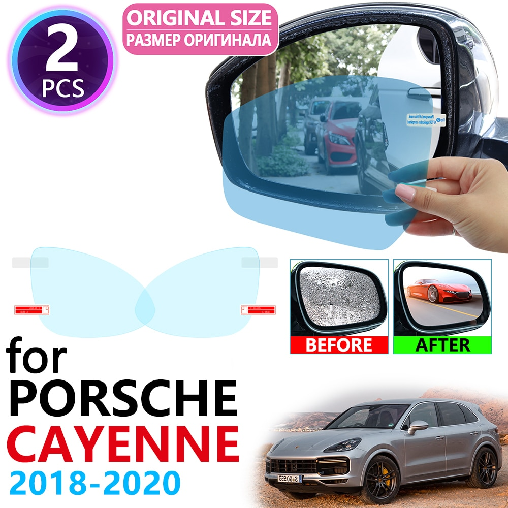 Porsche Cayenne 2018 2019 2020 GTS de la cubierta completa espejo retrovisor Anti-niebla películas impermeable Anti niebla película limpia accesorios de coche