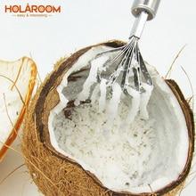 Holaroom السمك المقاييس مكشطة الفولاذ المقاوم للصدأ قشارة مزيل الأنظف أدوات المأكولات البحرية جوز الهند ماكينة حلاقة Graters أدوات مطبخ الفاكهة