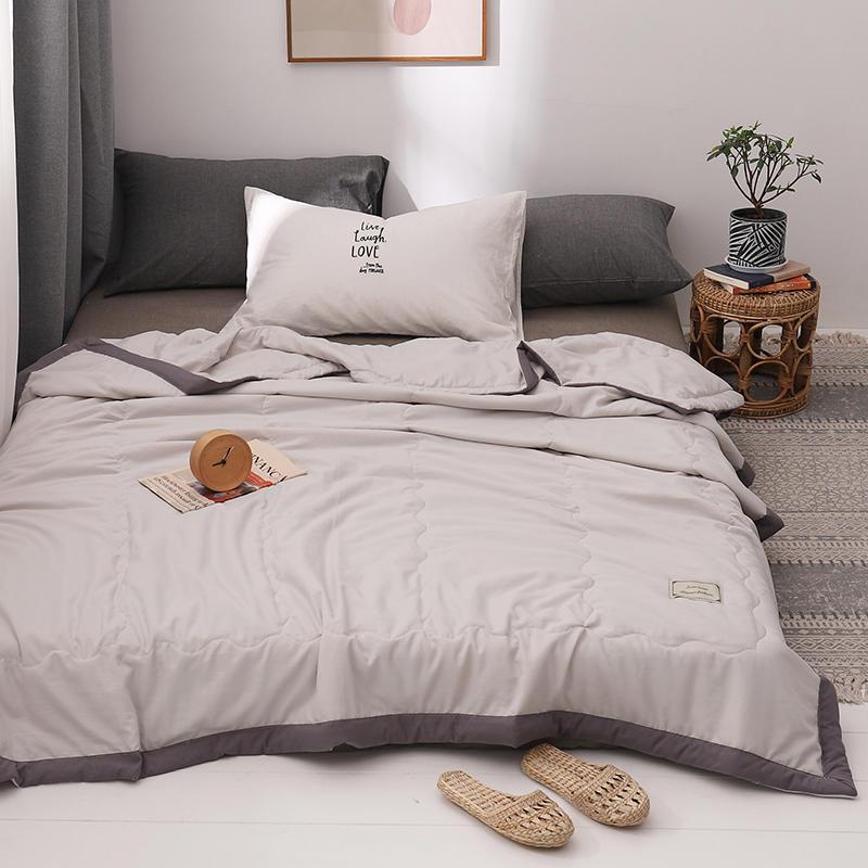Edredón Bonenjoy de verano, 1 unidad, edredón de lavado para aire acondicionado, cama individual de Reina, colcha y edredón de verano