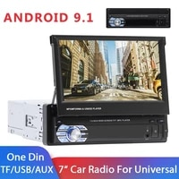 216gb android 9 1 1din car radio 7 universal car multimedia player wifi gps bluetooth mirror link autoradio quad core no dvd