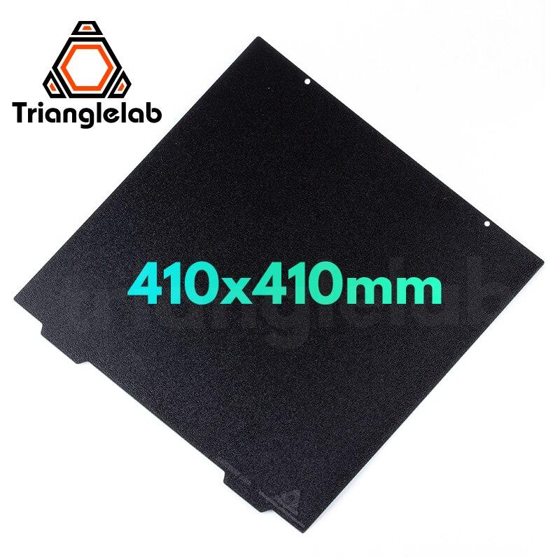 Trianglelab-لوح فولاذي للطابعة ثلاثية الأبعاد ، لوح بناء PEI مزدوج الوجه للطابعات ثلاثية الأبعاد لـ ABS PETG ، 410X410