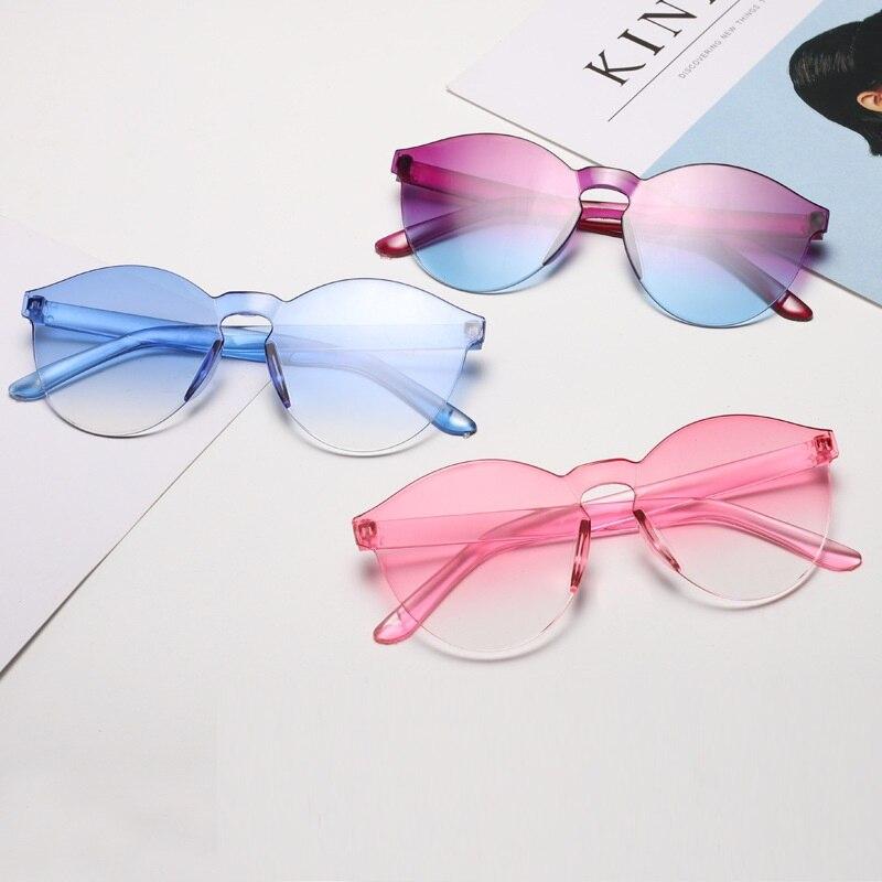 Cat Eye Sunglasses Women Vintage Round Sun Glasses Men Retro Fashion Ladies Lunette De Soleil Femme
