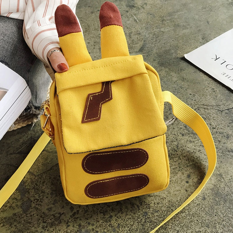 Bolsa Pokemon Pikachu, bolso de chica para Universidad, bolso de hombro Animal, bolso Pokemon Go