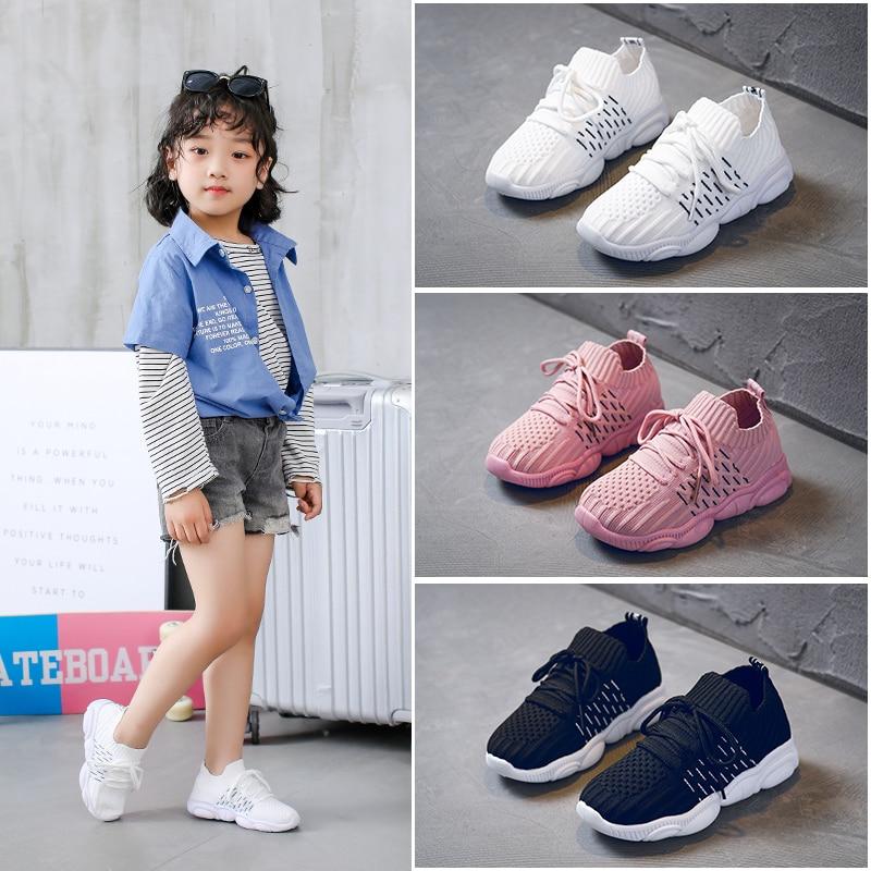 Girls Shoes Children Shoes 2020 Boys Sneakers Girls White Mesh Running Trainer Tennis Panda Shoe Sneake Kids Casual Shoe Student