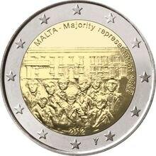 Malte 2012 négociations dans le 1887s 2 Euro réel pièces dorigine véritable Collection Euro pièce commémorative Unc