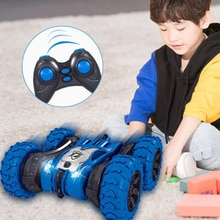 2 In 1 2.4G Remote Control Stunt Car Double-sided Tumbling Stunt Car Tank Tracked Car Jumping Car Of