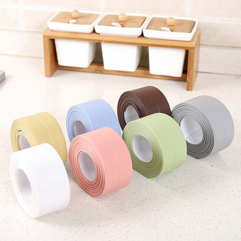 3,2 м * 3,8 см однослойный ПВХ водонепроницаемый и плесени доказательство ленты ящик Кухня Раковина шов стена для ванной/туалета лента с наклей...