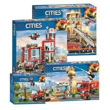 Nouvelle ville série la caserne modèle bloc de construction brique jouet pour enfants cadeau 60216