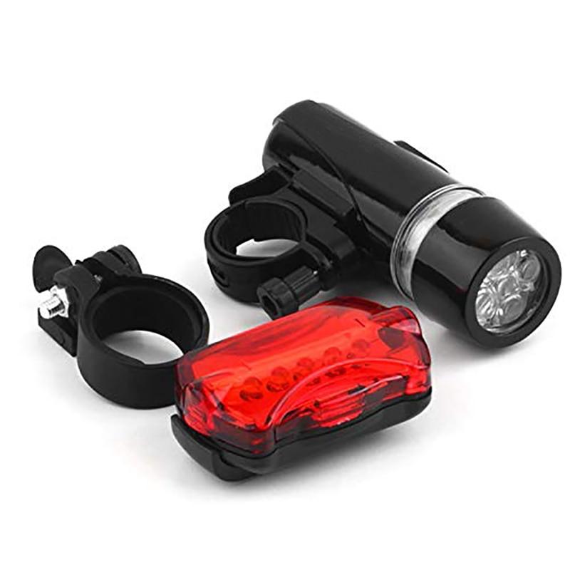 5 Led Bicycle Front Head Light+Tail Light Set Waterproof Road MTB Mountain Bike Rear Light Cycling Lamp Flashlight