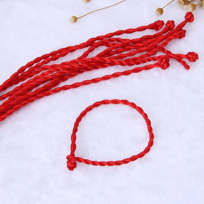10PCS Hand preparation Red String Kabbalah Bracelets Ethnic Red Rope Lanyard wholesale ethnic style