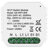 WiFi commutateur de lumiere intelligente Module de disjoncteur bricolage vie intelligente Tuya APP telecommande  fonctionnant avec Alexa Echo Google Home