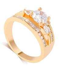 1 pc bague femme à la mode anneau Micro-incrusté facettes zircon anneau pour filles mariée accessoires dédouanement