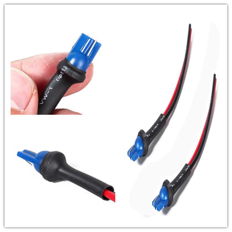2 uds T10 montaje de faro de coche adaptador de enchufe de Enchufe macho conector de cable extendido accesorios eléctricos de coche soportes de enchufe